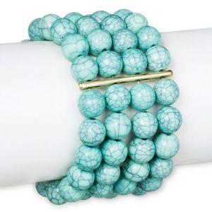 Sugarfix BaubleBar Turquoise beaded cute bracelet